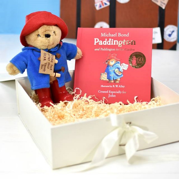 Personalised Paddington Story Book & Plush Toy Giftset