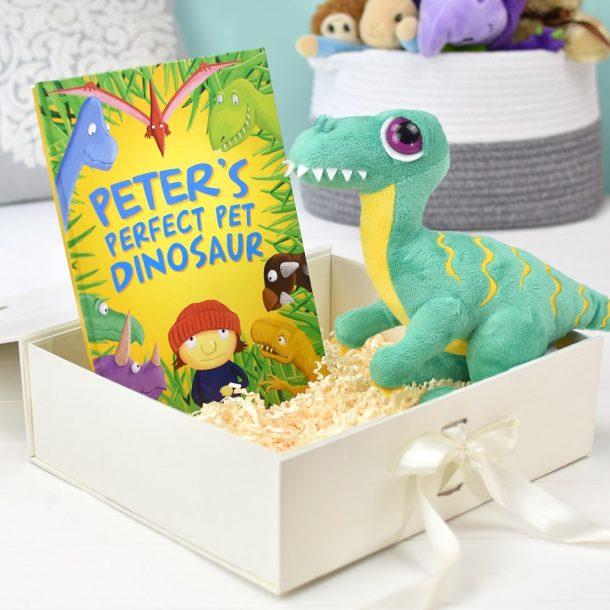 Personalised Perfect Pet Dinosaur Plush Toy Giftset