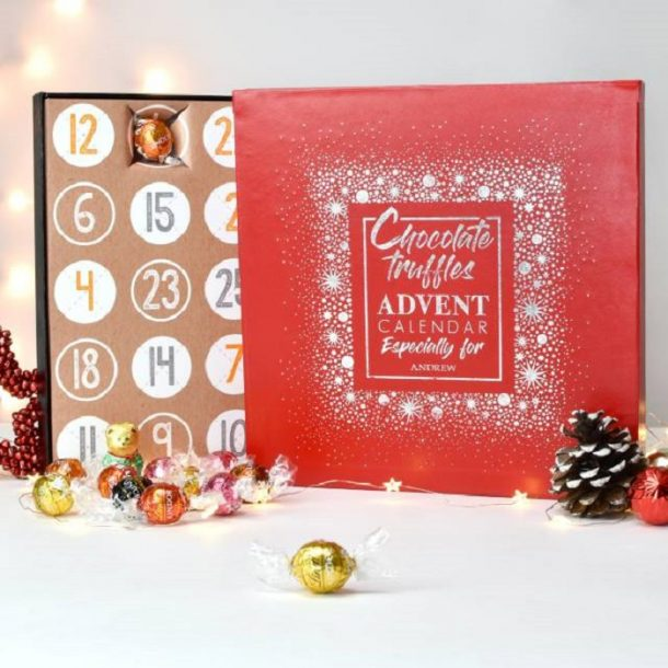 Personalised Truffles Advent Calendar