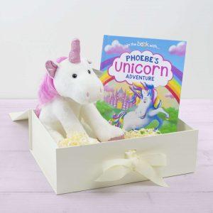 Personalised Unicorn Story Plush Toy Giftset