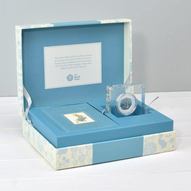 Peter Rabbit Royal Mint Silver Coin & Book Set