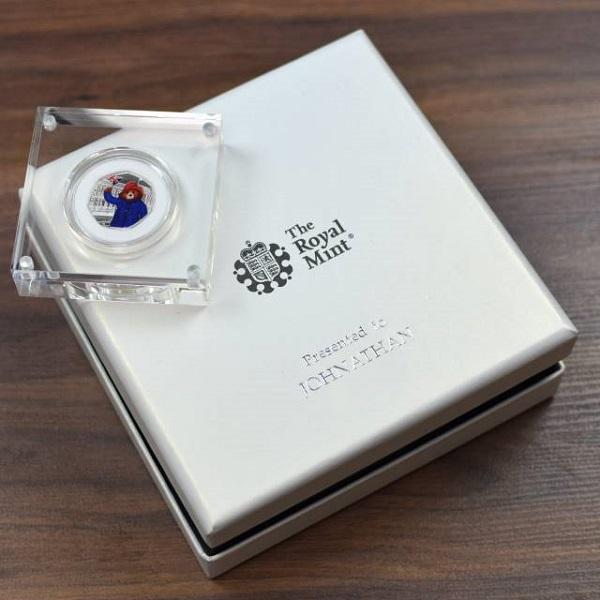 Royal Mint Paddington 50pence Coin & Personalised Box