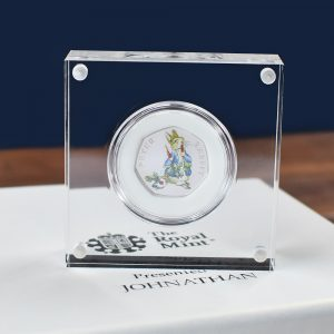 Royal Mint Peter Rabbit 50pence Coin & Personalised Box