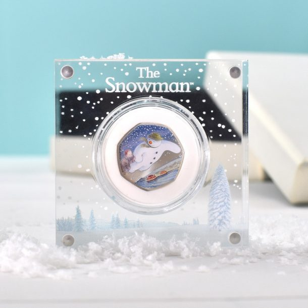Royal Mint The Snowman 50pence Coin & Personalised Box