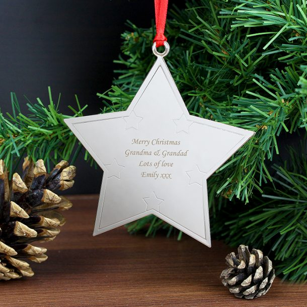 Personalised Star Tree Decoration