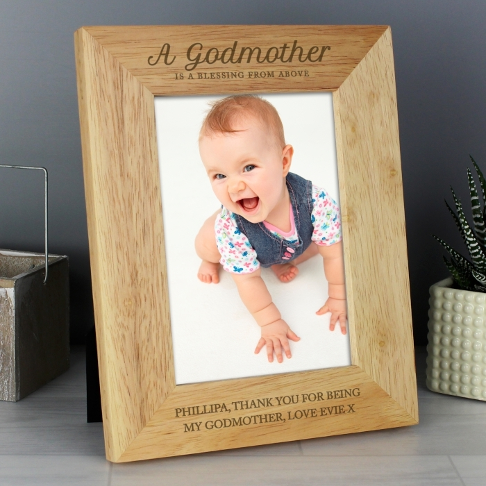 Personalised Godmother Wooden 5 215 7 Photo Frame Love My Gifts