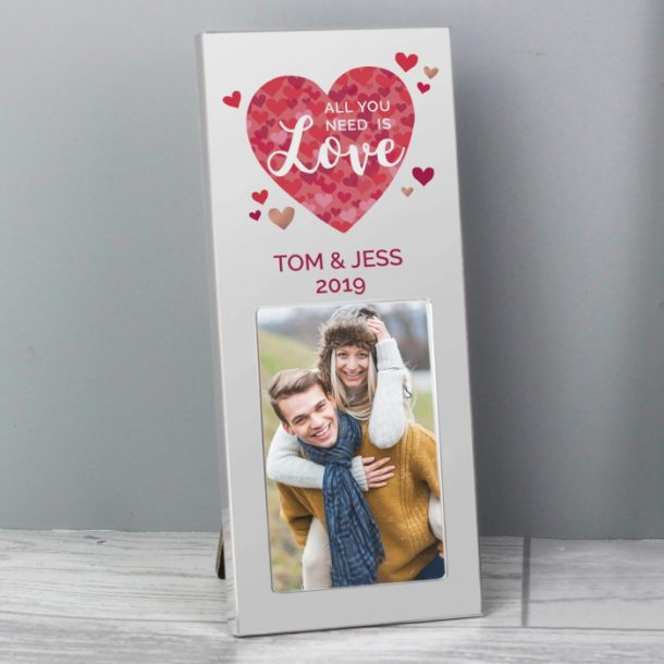 Personalised All You Need is Love 2x3 Photo Frame