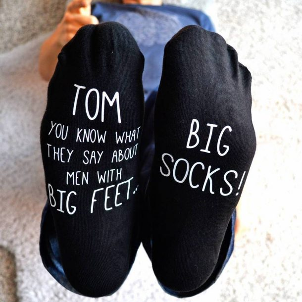 Personalised Big Feet Big Socks