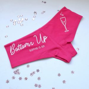 Personalised Bottoms Ups Ladies Underwear