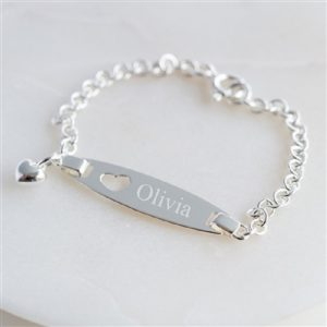 Personalised Child's Silver Identity Bracelet & Gift Box