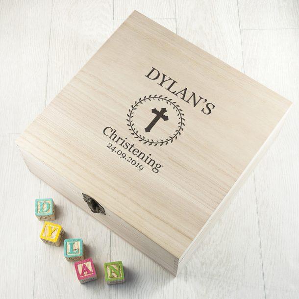 Personalised Christening Memory Box