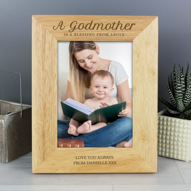 Personalised Godmother Wooden 5x7 Photo Frame