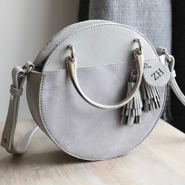 Personalised Initials Grey Ladies Handle & Shoulder Bag