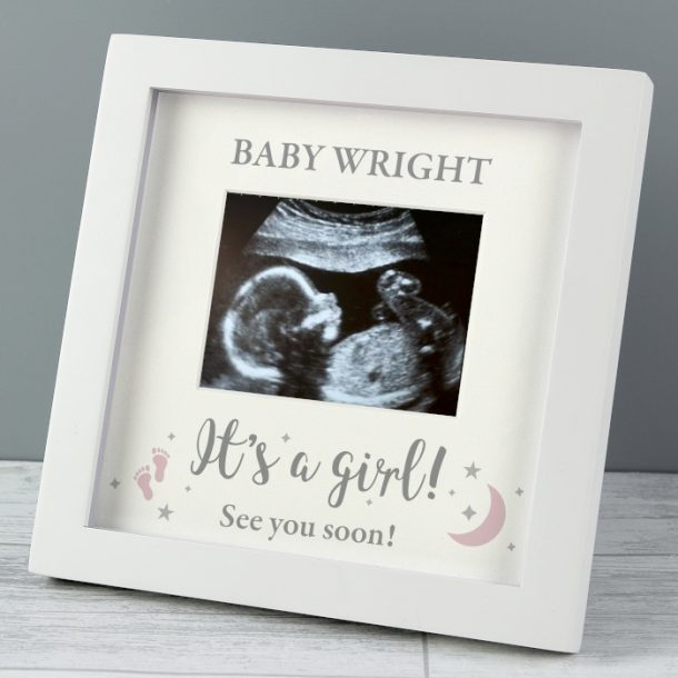 Personalised It's A Girl Baby Scan Frame