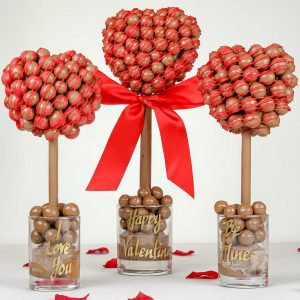 Personalised Malteser Heart With Red Drizzle Sweet Trees