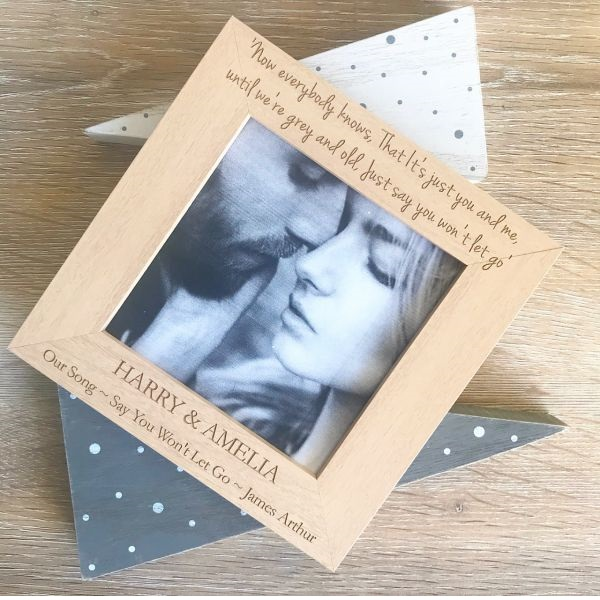 Personalised Our Song Wooden Photo Frame