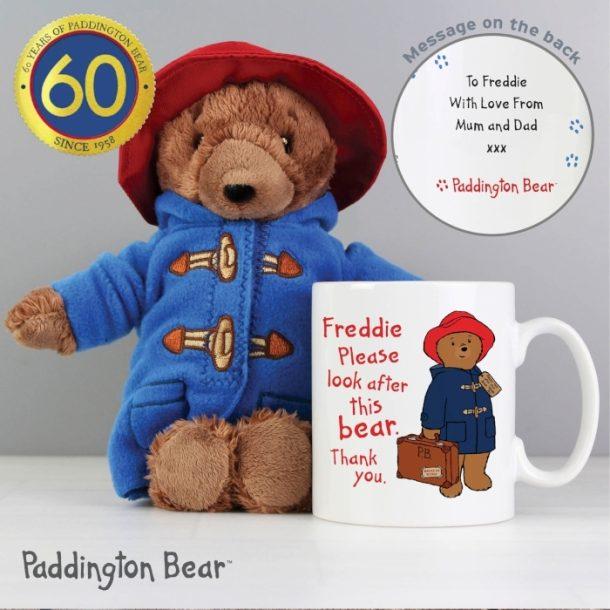 Personalised Paddington Mug & Paddington Bear