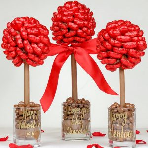 Personalised Red Heart Sweet Trees