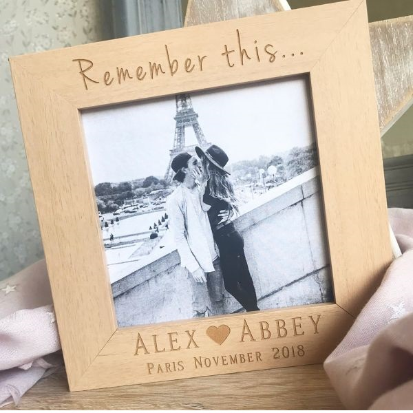 Personalised Remember This Photo Frame