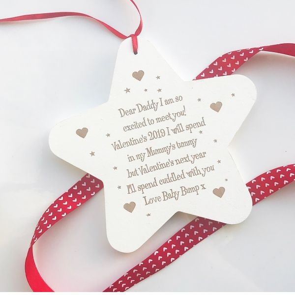 Personalised So Excited To Meet You Valentine's Hanging Star