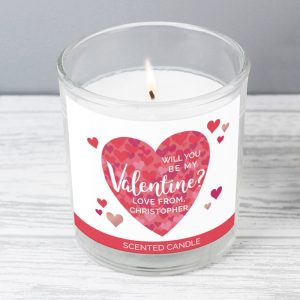 Personalised Valentine's Day Scented Jar Candle