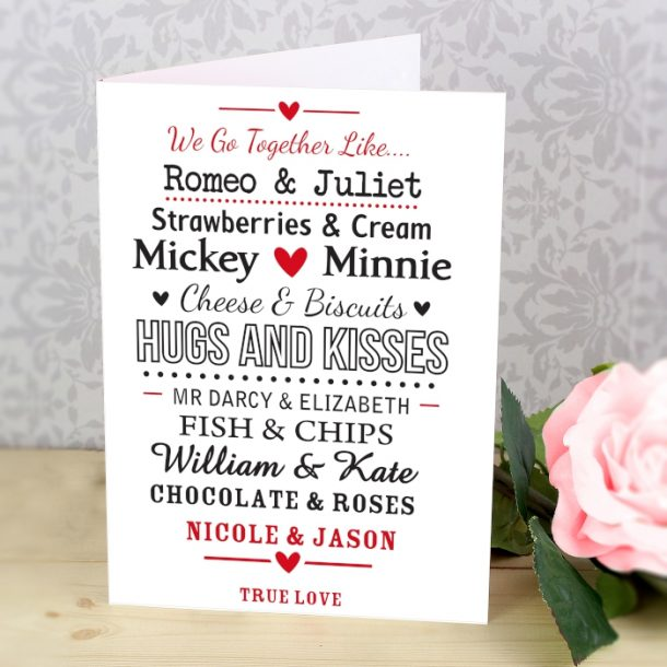 Personalised We Go Together Like Card