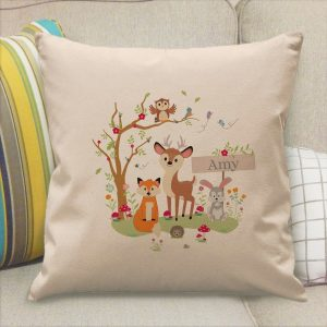 Personalised Woodland Filled Cushion
