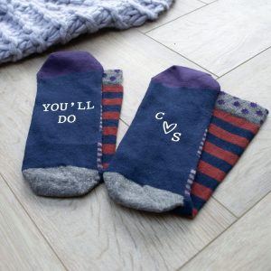 Personalised You'll Do Men's Valentines Socks