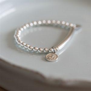 Silver St Christopher Baby Bracelet & Gift Box
