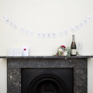 All You Need Is Love Vintage Card Bunting