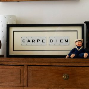 Carpe Diem Vintage Card Frame