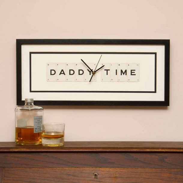 Daddy Time Framed Clock
