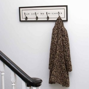 Fur Coat No Knickers Vintage Card Coat Hook