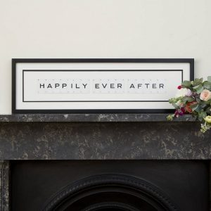 Happily Ever After Vintage Card Frame