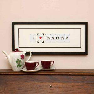 I Love Daddy Vintage Card Frame