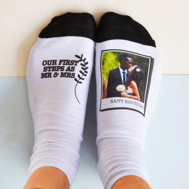 Anniversary Photo Socks