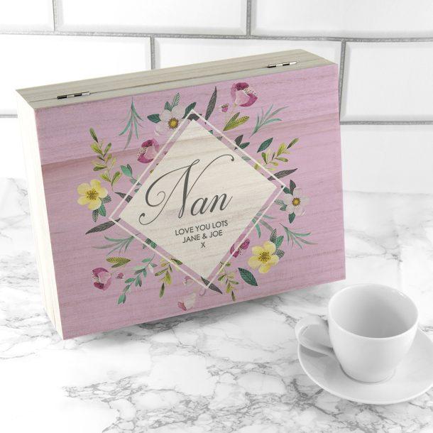 Personalised Botanical Tea Box
