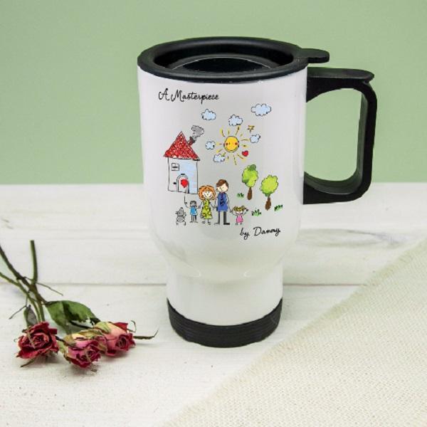 Personalised Child's Artwork Travel Mug