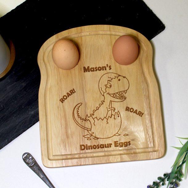 Personalised Dinosaur Egg & Soilders Board