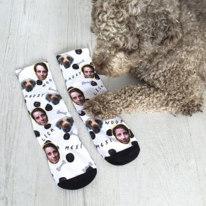 Personalised Dog & Owner Photo Socks