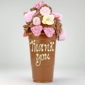Personalised Floral Milk Chocolate Smash Cup
