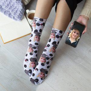 Personalised Graduation Photo Upload Socks