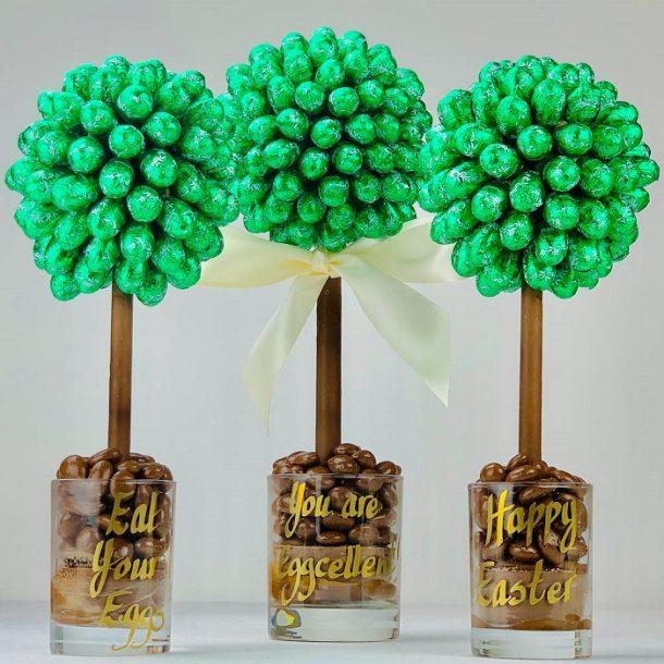 Personalised Lindor Mint Egg Sweet Trees