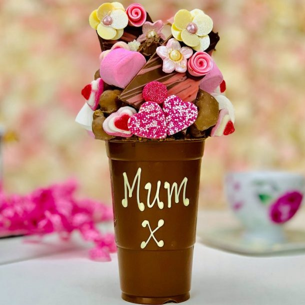 Personalised Mothers Day Belgian Chocolate Smash Cup