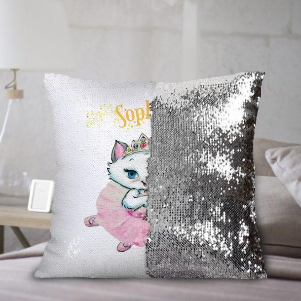 Personalised Nina Fairy Sequined Cushion