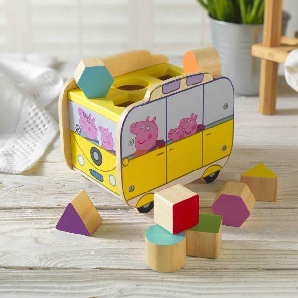 Personalised Peppa Pig Shape Sorter Camper Toy
