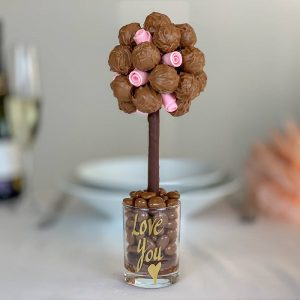 Personalised Salted Caramel & Pink Roses Truffle Sweet Trees