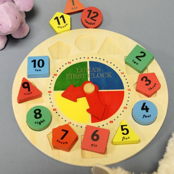 Personalised Shape Sorter Learning Clock