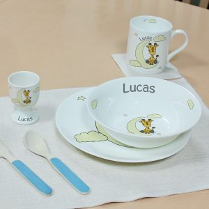 Personalised Sweet Dreams Giraffe Breakfast Set