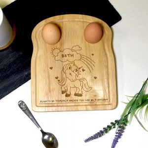 Personalised Unicorn Egg & Soilders Board